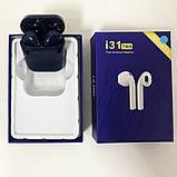 Беспроводные Bluetooth наушники TWS i31-5.0. Цвет: темно-синий, фото 5