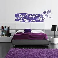 Интерьерная декоративная наклейка Кисть фантазия (наклейки абстракции), фото 1