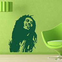 Виниловая интерьерная наклейка на стену Боб Марли (наклейки известные личности)