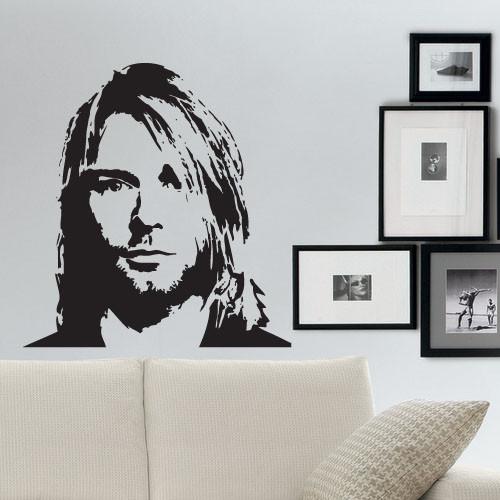 Интерьерная виниловая наклейка на стену Курт Кобейн (наклейки звезды)