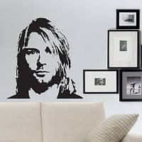 Интерьерная виниловая наклейка на стену Курт Кобейн (наклейки звезды), фото 1
