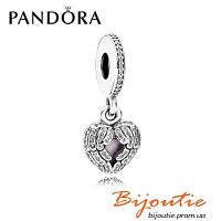 Шарм Pandora КРЫЛЬЯ АНГЕЛА 791737CZ серебро 925 эмаль розовая Пандора оригинал
