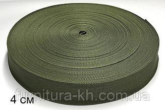Ременная лента стропа (Тесьма сумочная) ширина 4 см в рулоне 50 метров.Цвет  Койот