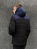 """Зимний комплект """"Найк"""" сине-черная + штаны утепленные. Барсетка и перчатки в подарок!, фото 2"""