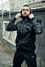 Nike Windrunner Jacket камуфляж серо-черный