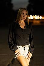 Блузка на пуговицах Lameia черная