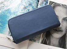 """Жіночий шкіряний гаманець """"Ferro"""" синій"""
