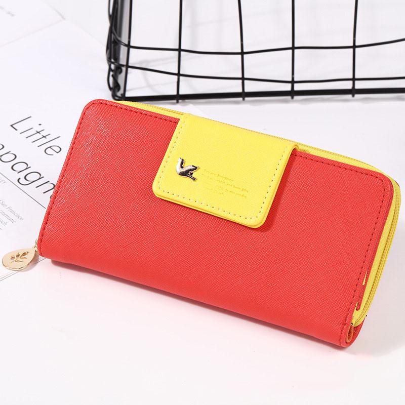 Гаманець жіночий червоний з жовтим код 127