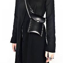 """Невелика жіноча сумка для дрібниць """"Stellato"""" чорна"""