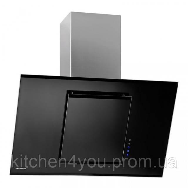 Вытяжка кухонная Pyramida BG 900 (900 мм.) нержавеющая сталь / черное стекло
