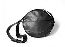 """Жіноча сумка-рюкзак """"Transformer"""" з натуральної шкіри чорна"""