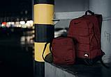 Комплект TWIX рюкзак Nike червоний меланж + барсетка Nike червоний меланж, фото 7