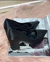 Туфлі чорні тканина