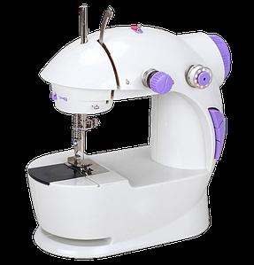 Швейна машинка портативна Mini Sewing Machine Fhsm 201 - Міні швейна машина з педаллю і блоком живлення Топ