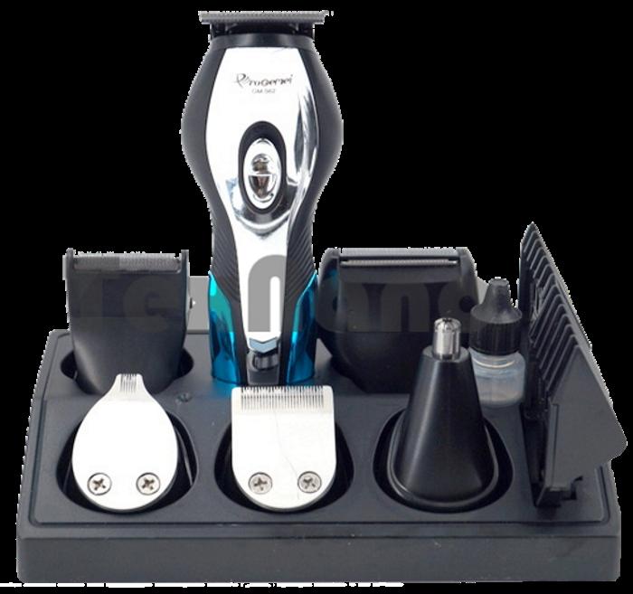 Машинка для стрижки GEMEI GM-562 11 в 1 - Бездротова акумуляторна машинка, тример, бритва Топ