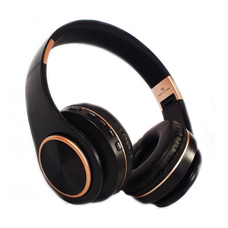 Бездротові навушники JBL T8 - складено Bluetooth-навушники з акумулятором, MP3 плеєром (Репліка)