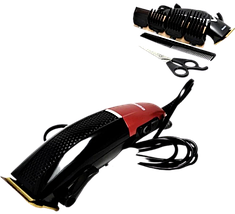 Професійна машинка для стрижки волосся мережева Gemei GM-807 9W 4 насадки Топ, фото 3
