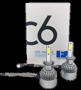Комплект автомобільних LED ламп C6 H3 - Світлодіодні лампи, Автолампи, Ближнє, дальнє світло, Автосвітло Топ