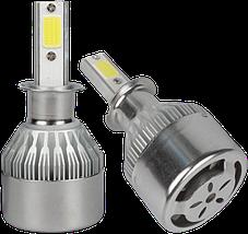 Комплект автомобільних LED ламп C6 H3 - Світлодіодні лампи, Автолампи, Ближнє, дальнє світло, Автосвітло Топ, фото 3