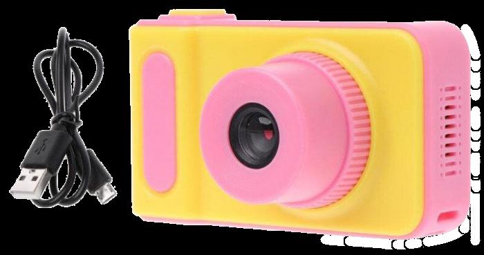Детский цифровой фотоаппарат Smart Kids Camera V7 Розовый | Детская цифровая камера Топ