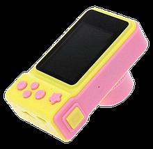 Детский цифровой фотоаппарат Smart Kids Camera V7 Розовый | Детская цифровая камера Топ, фото 2