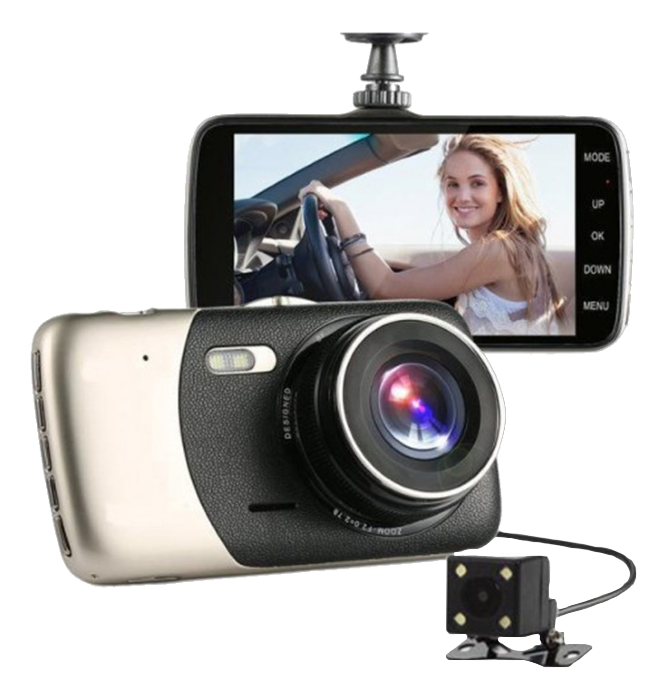 """Автомобільний Відеореєстратор DVR T652 4"""" Full HD 1080p з камерою заднього виду Топ"""