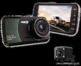 """Автомобільний Відеореєстратор DVR T652 4"""" Full HD 1080p з камерою заднього виду Топ, фото 2"""