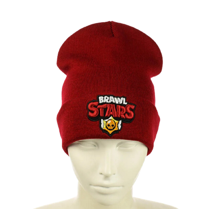 "Детская шапка ""Brawl Stars"" Красная Топ"