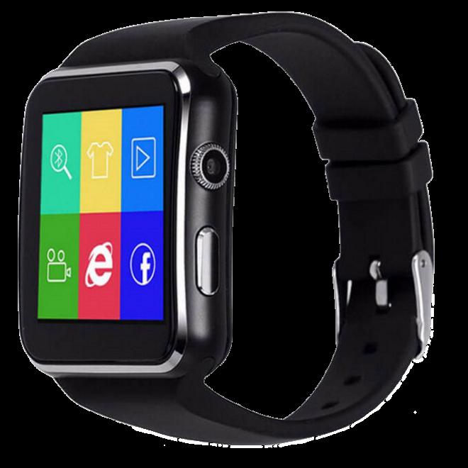 Умные часы Smart Watch X6 black - смарт часы со слотом под SIM карту Чёрные Топ