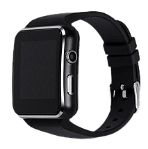 Умные часы Smart Watch X6 black - смарт часы со слотом под SIM карту Чёрные Топ, фото 2