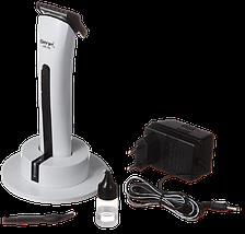 Машинка для стрижки волос Gemei GM-725 - Беспроводная аккумуляторная машинка, триммер бритва для усов и бороды, фото 3