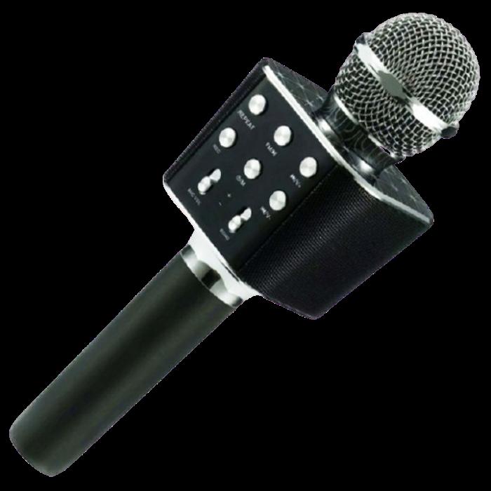 Мікрофон караоке WSTER WS-1688 - бездротової Bluetooth мікрофон з 5 тембрами голосу Чорний Топ