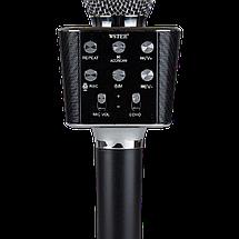 Мікрофон караоке WSTER WS-1688 - бездротової Bluetooth мікрофон з 5 тембрами голосу Чорний Топ, фото 3