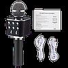 Мікрофон караоке WSTER WS-1688 - бездротової Bluetooth мікрофон з 5 тембрами голосу Чорний Топ, фото 2