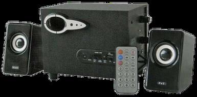 Колонки для компьютера FnT SW-303U - акустические колонки для ПК с сабвуфером и пультом, колонки для ноутбука