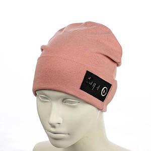 Жіноча шапка Supr Пудра - молодіжна шапка-лопата з відворотом Топ