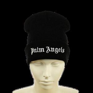 "Шапка ""Palm Angels"" Чорна - молодіжна шапка-лопата з відворотом Топ"