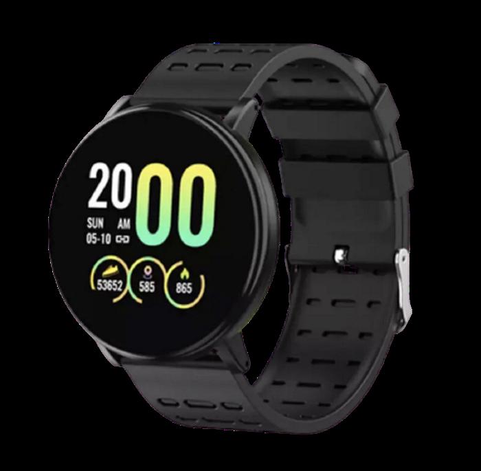 Фитнес-браслет Smart Band 119 Plus - Смарт часы, фитнес браслет, фитнес часы Черные Топ