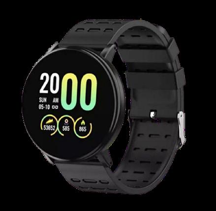 Фитнес-браслет Smart Band 119 Plus - Смарт часы, фитнес браслет, фитнес часы Черные Топ, фото 2