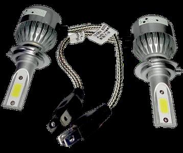 Комплект автомобільних LED ламп C6 H7 (3800Лм, 36Вт) - Світлодіодні лампи, Автолампи, Ближнє, Дальнє світло