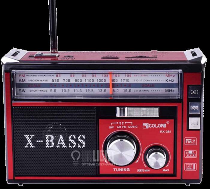 Радіоприймач з ліхтарем Golon RX-381 - Радіо з MP3, USB/SD і LED-ліхтариком Топ