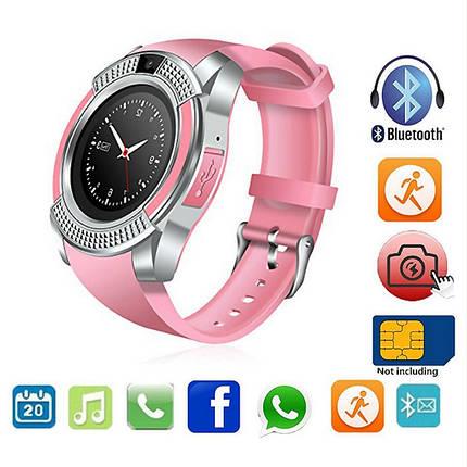 Розумні годинник Smart Watch V8 сенсорні - смарт годинник Рожеві Топ, фото 2