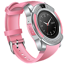 Розумні годинник Smart Watch V8 сенсорні - смарт годинник Рожеві Топ, фото 3