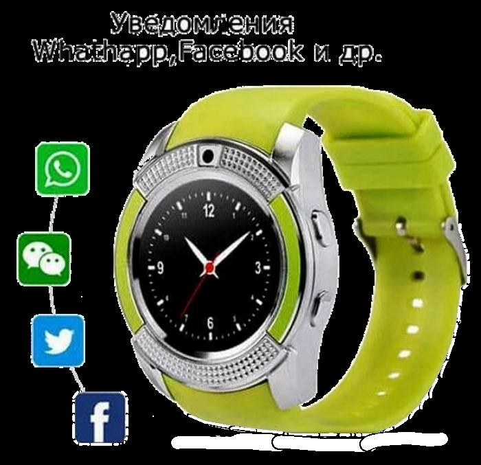 Умные часы Smart Watch V8 сенсорные - смарт часы Зеленые Топ