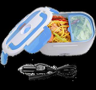 Ланч-бокс автомобільний електричний Electric Lunch box з підігрівом 1.05 л - Контейнер для їжі 12V Синій Топ
