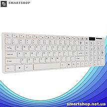 Бездротова клавіатура з мишею Keybord Wireless K06 (Біла) - комплект клавіатура миша Топ, фото 3