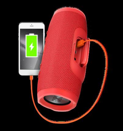Портативна колонка JBL CHARGE 4 червона - бездротова Bluetooth колонка + Power Bank (Репліка) Топ, фото 2