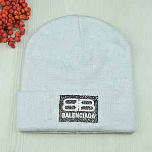 Жіноча шапка з люрексом Balenciaga Біла - Молодіжна шапка-лопата з відворотом Топ