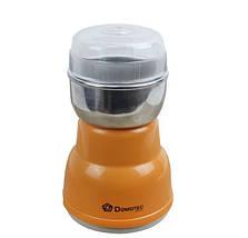 Електрична Кавомолка Domotec KP-125 - Електроімпульсна кавомолка 180Вт з нержавіючої сталі Топ, фото 2
