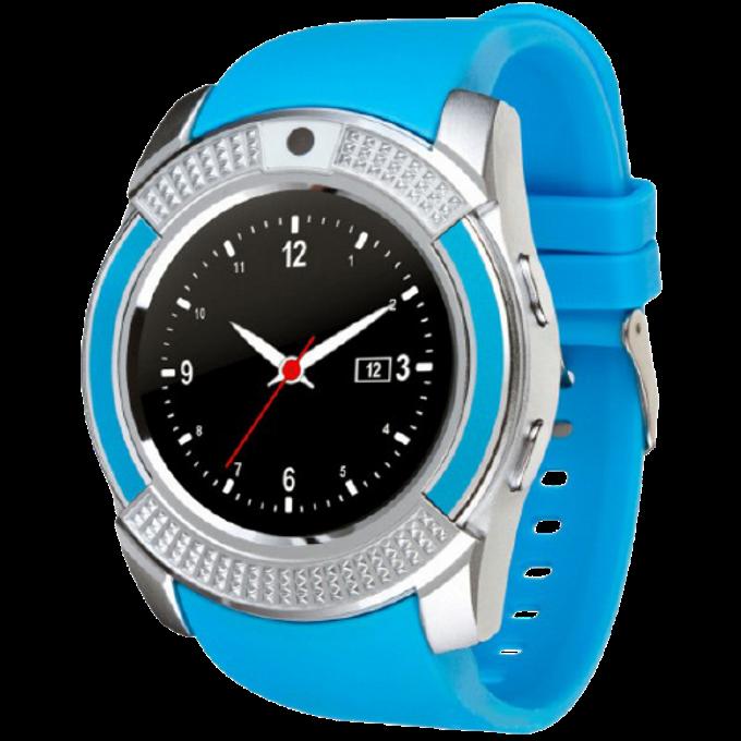 Умные часы Smart Watch V8 сенсорные - смарт часы Синие Топ